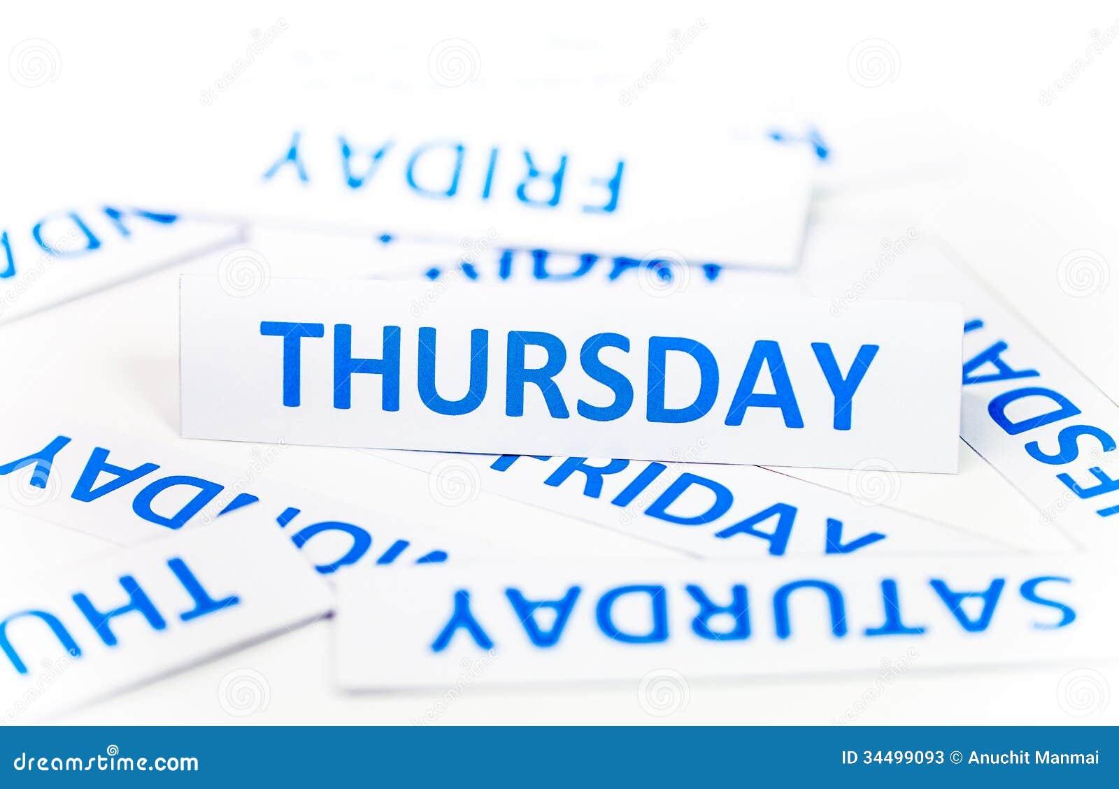 Thursday Word Texture ...