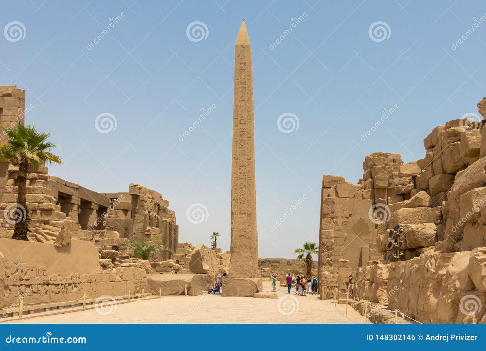 Thutmose I obelisk w Amun świątyni