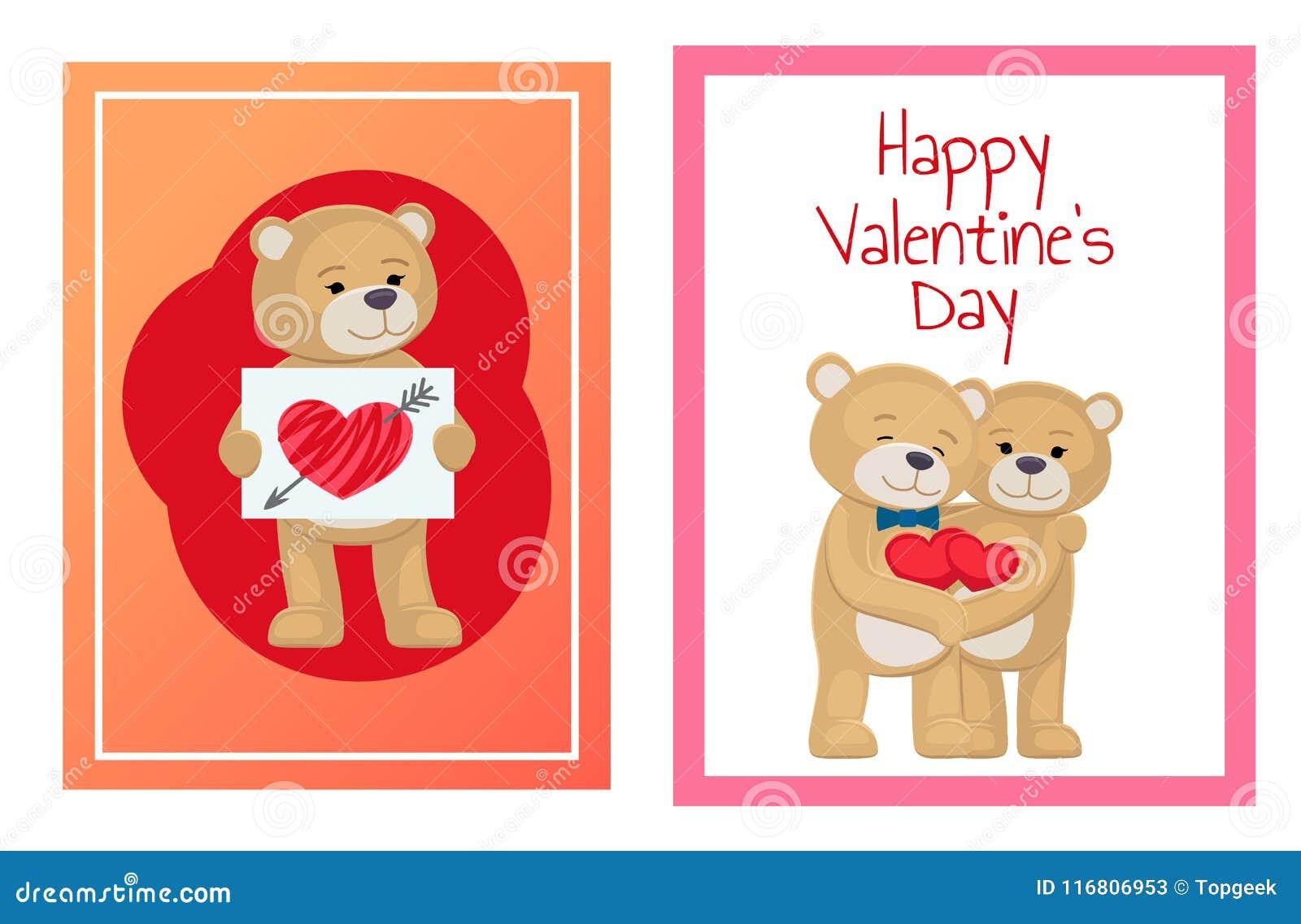 Ti amo e me Teddy Bears Vector