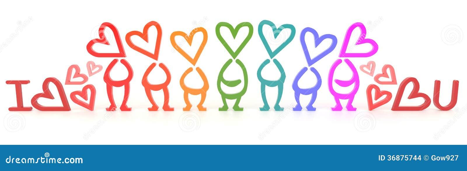 Download Ti Amo Segno Umano Per Il Biglietto Di S. Valentino (3D) Illustrazione di Stock - Illustrazione di alfabeto, girlfriend: 36875744