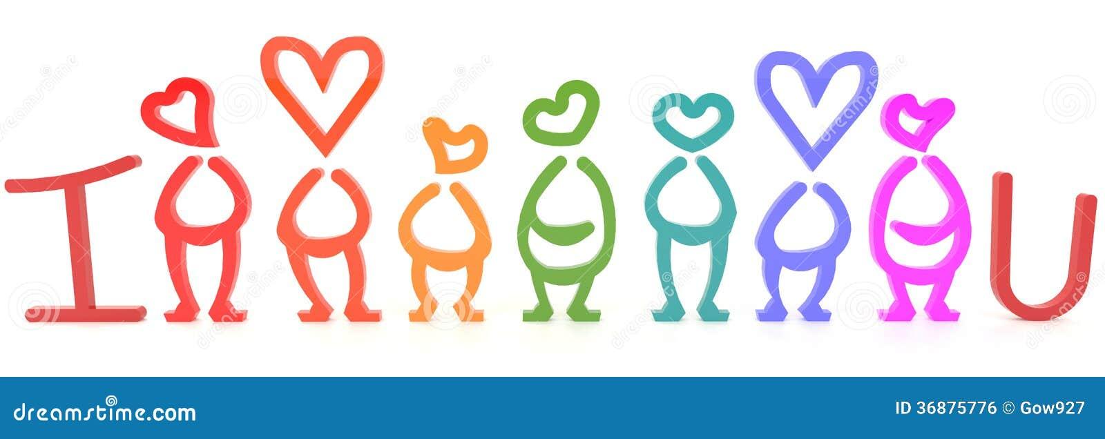 Download Ti Amo Segno Umano Per Il Biglietto Di S. Valentino (3D) Illustrazione di Stock - Illustrazione di divertente, regalo: 36875776