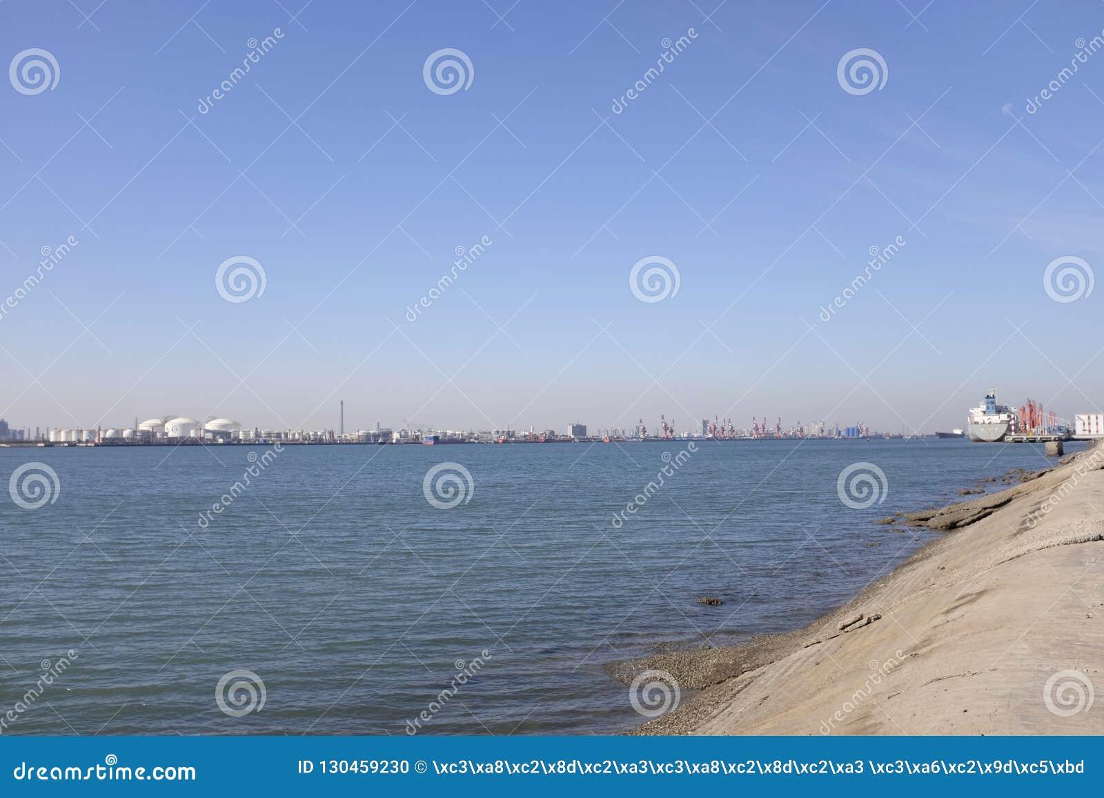 Tianjin Port,also known as Xingang, China