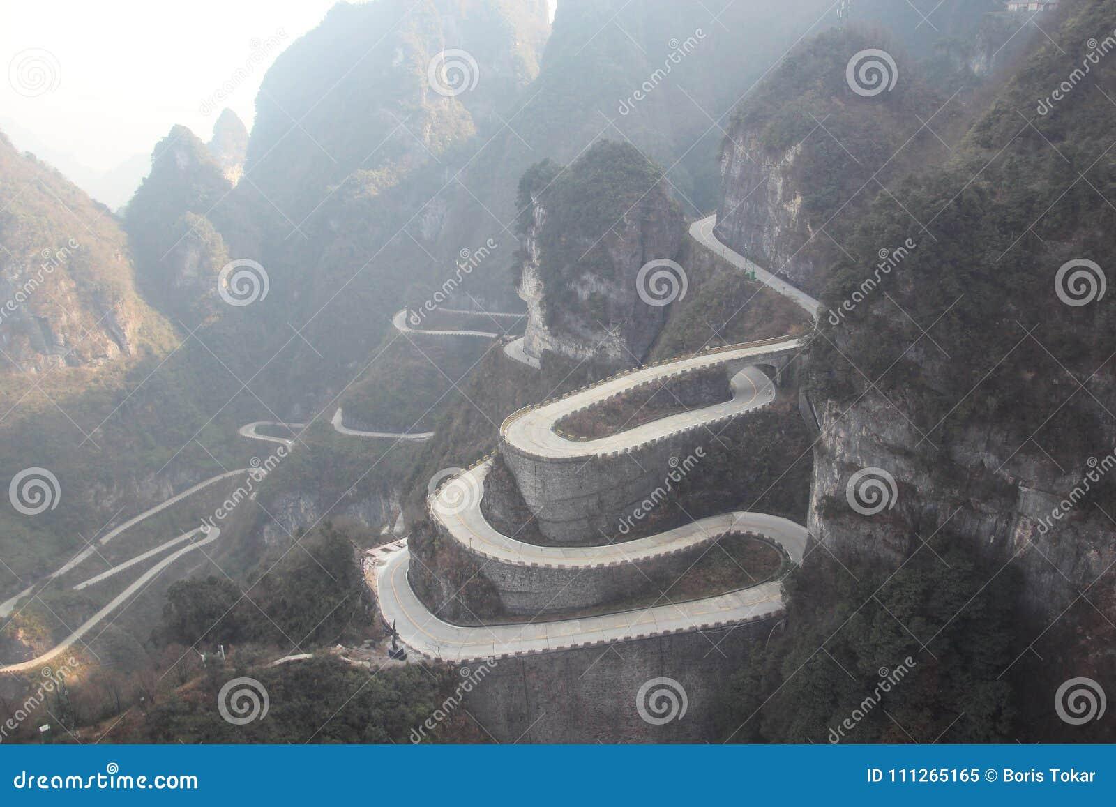 Tianmen väg Zhangjiajie - Kina