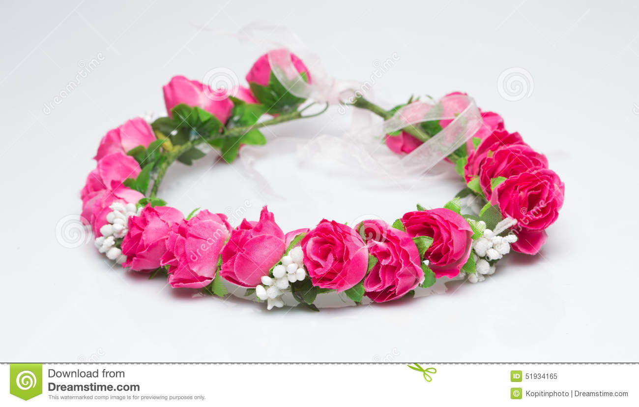 Tiara Of Artificial Roses On A Light Background Stock Image Image