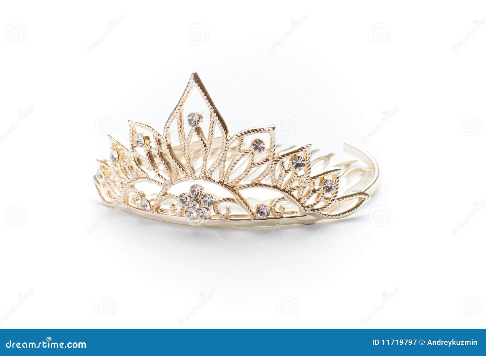 60% barato gran selección de 2019 diseño distintivo Tiara, Corona O Diadema De Oro Aislada Imagen de archivo ...