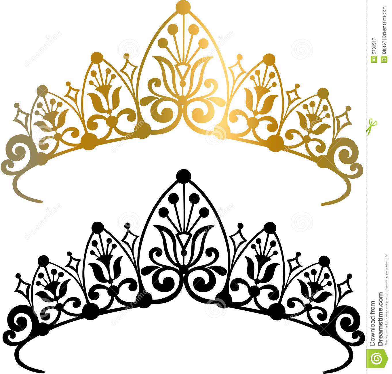 Tiara Crown Vector Illustration Royalty Free Stock Photography - Image ...