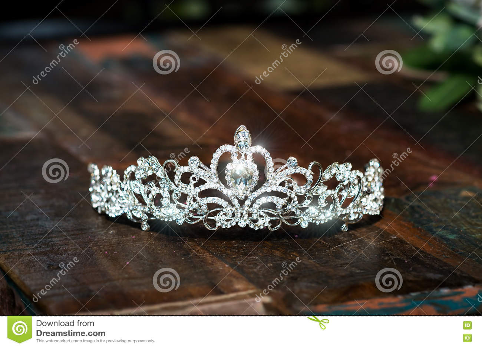 Tiara, diadem wedding crown. Luxury precious accessories