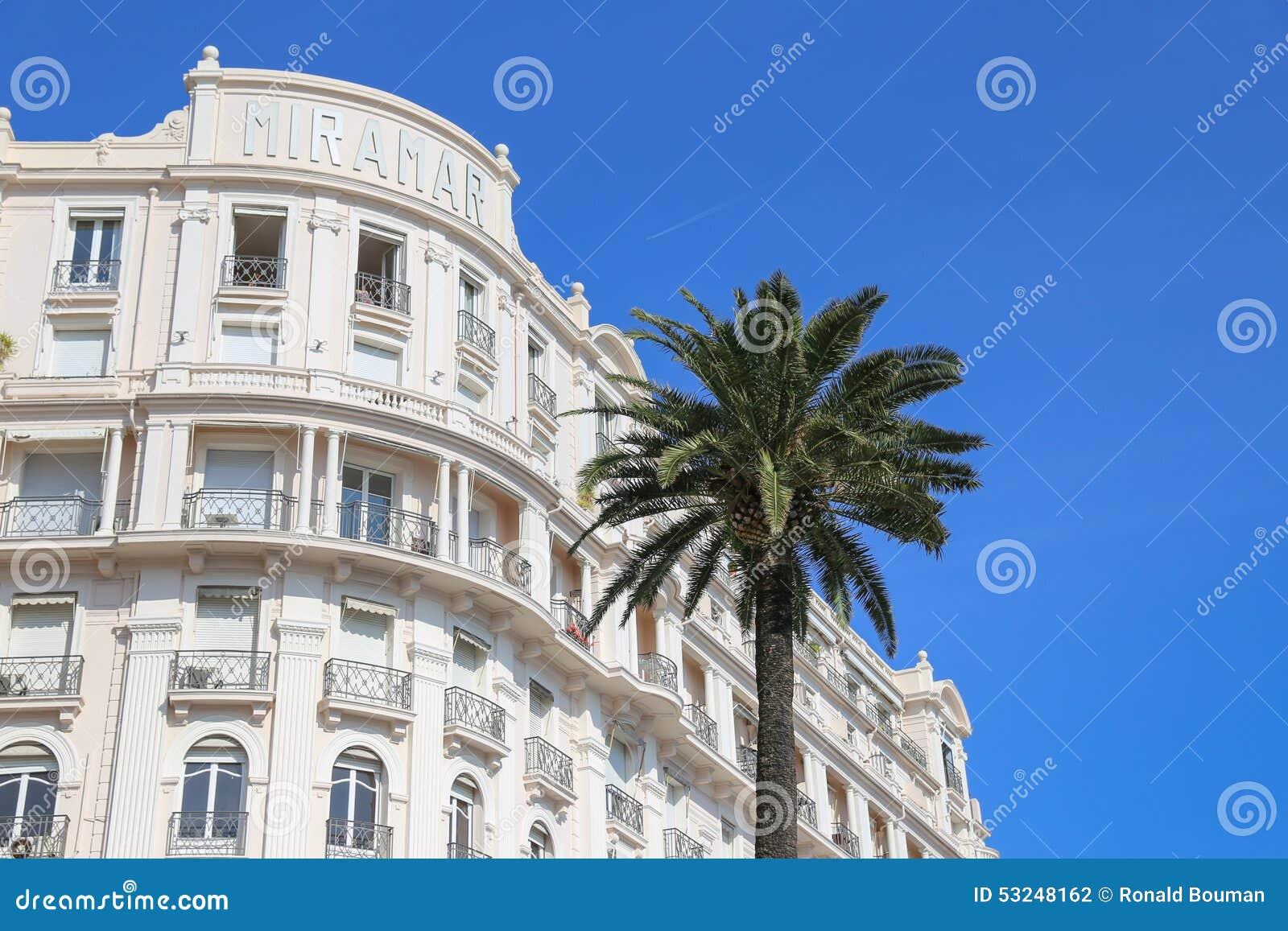 Tiara Miramar Beach Hotel Spa In Cannes Editorial Photography