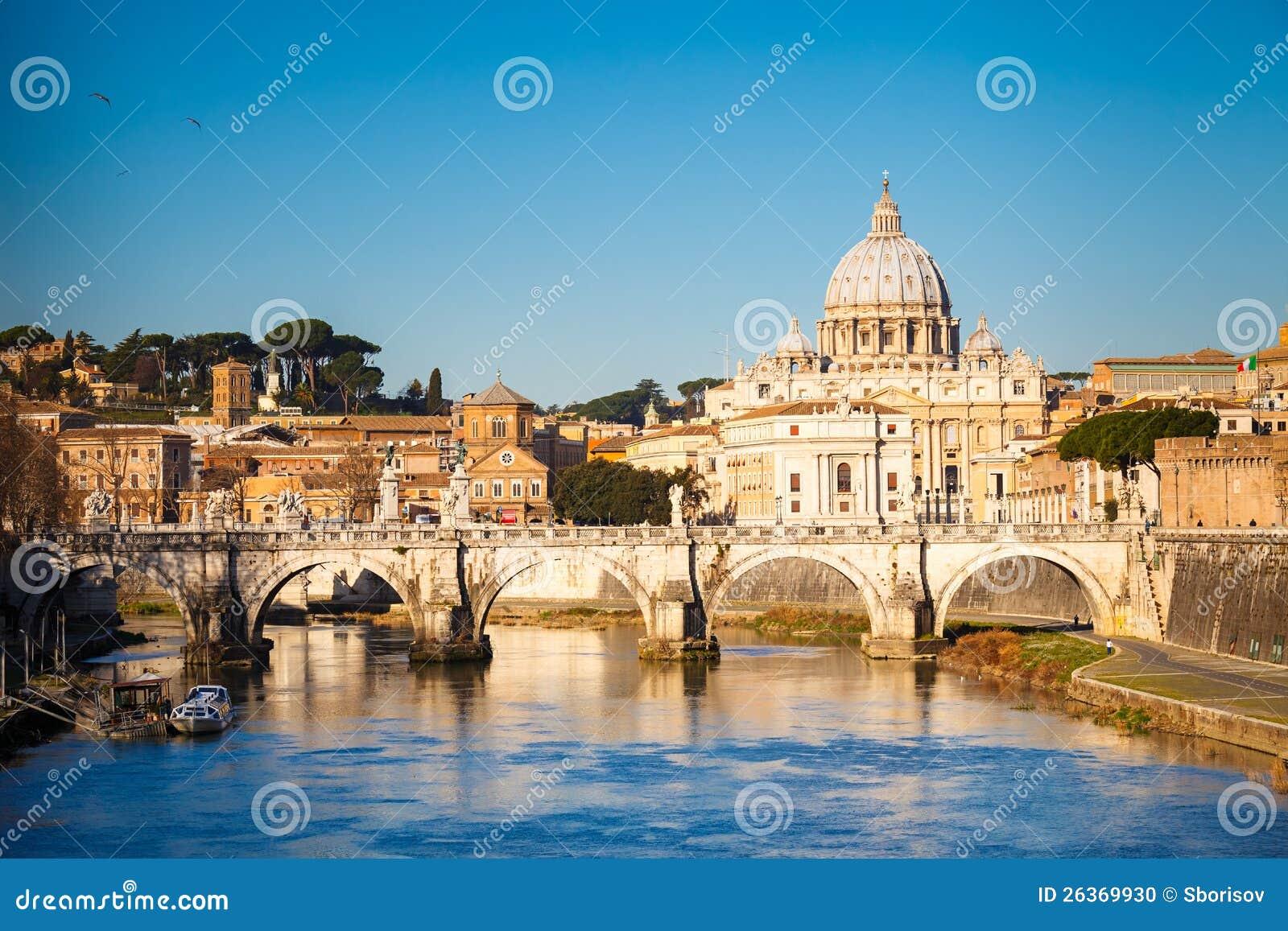 Tiber-und Str.-Peters Kathedrale, Rom