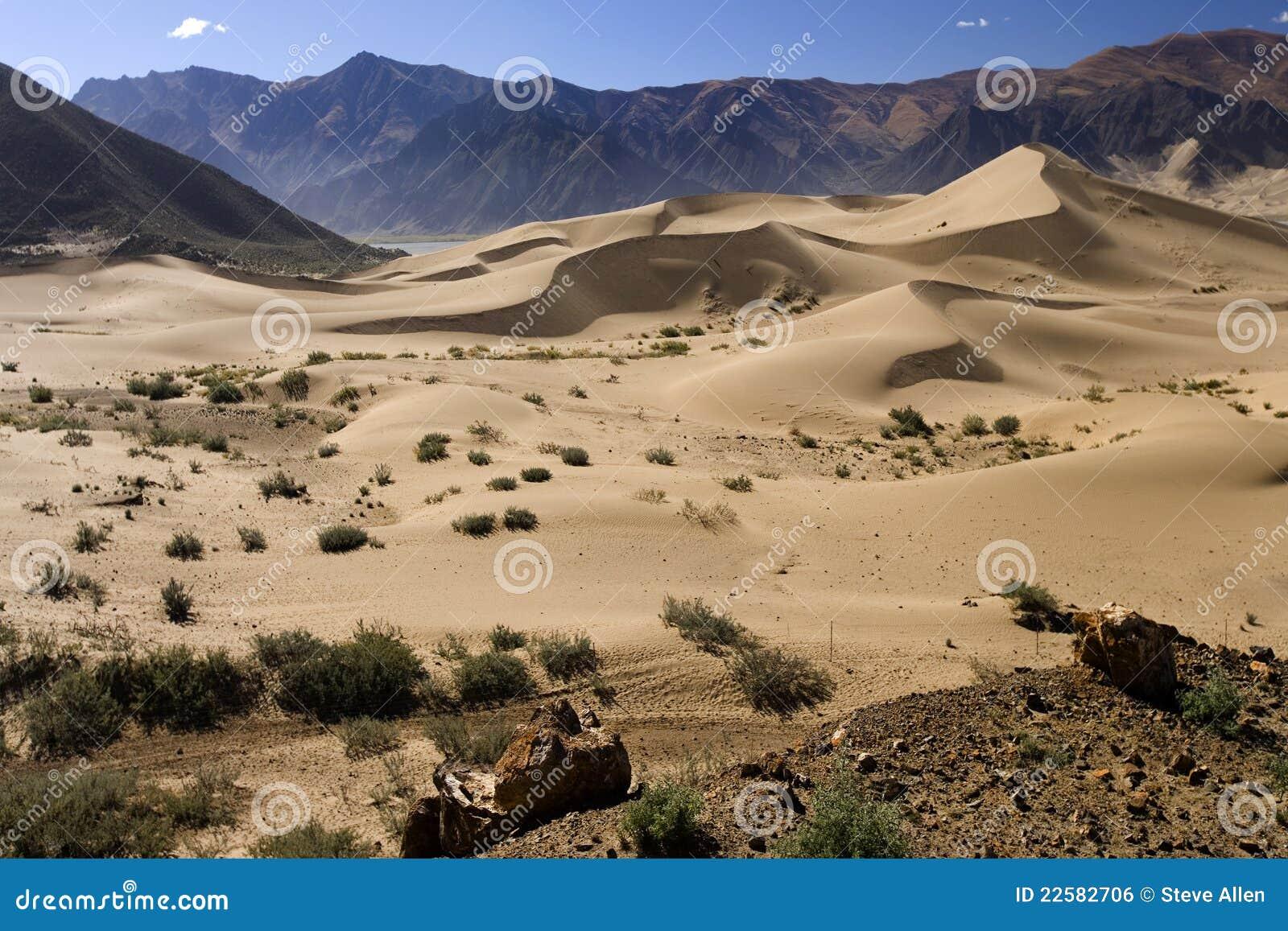 Sand dunes in the desert high on the Tibetan Plateau in the Tibet ...Western Desert Clipart