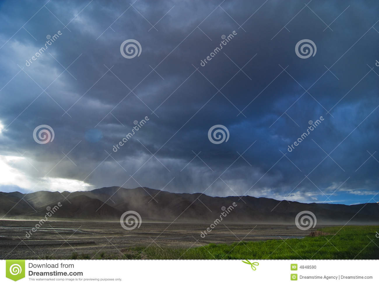 Tibet pochmurno