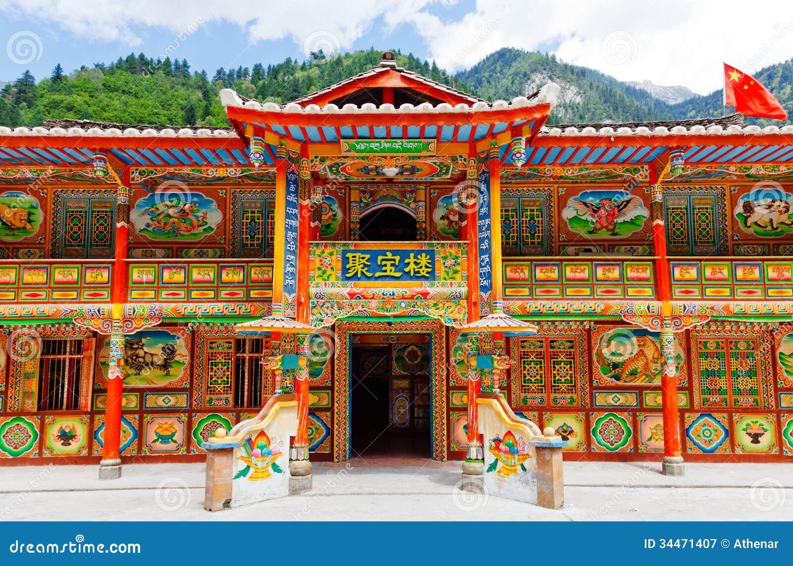 House Exterior Design India Tibetan Houses Royalty Free Stock Photography Image