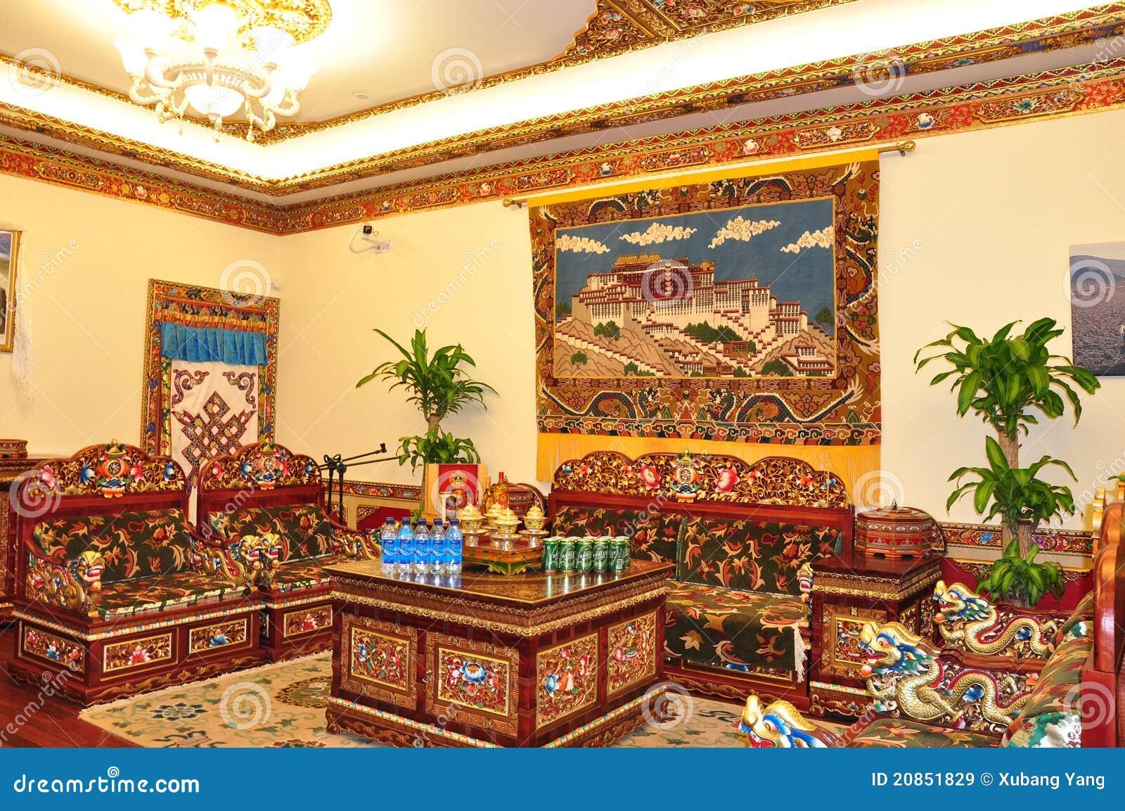 Tibetan Living Room Editorial Stock Image Of