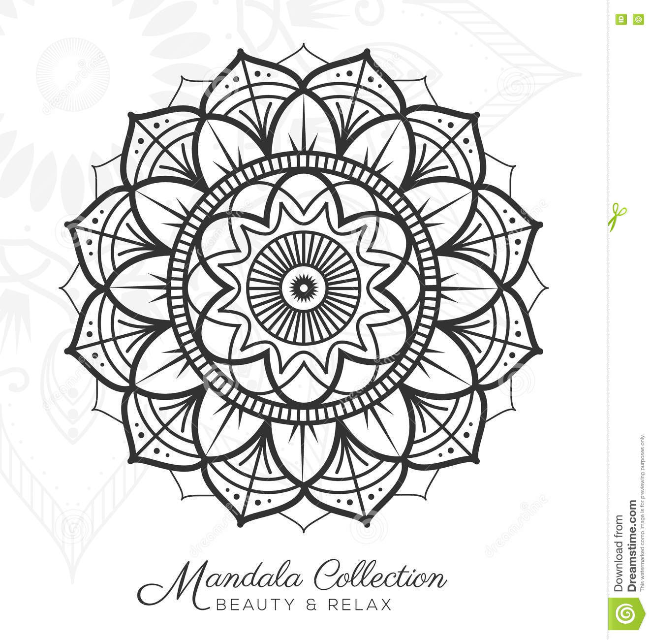 Royalty Free Vector Download Tibetan Mandala Decorative Ornament Design