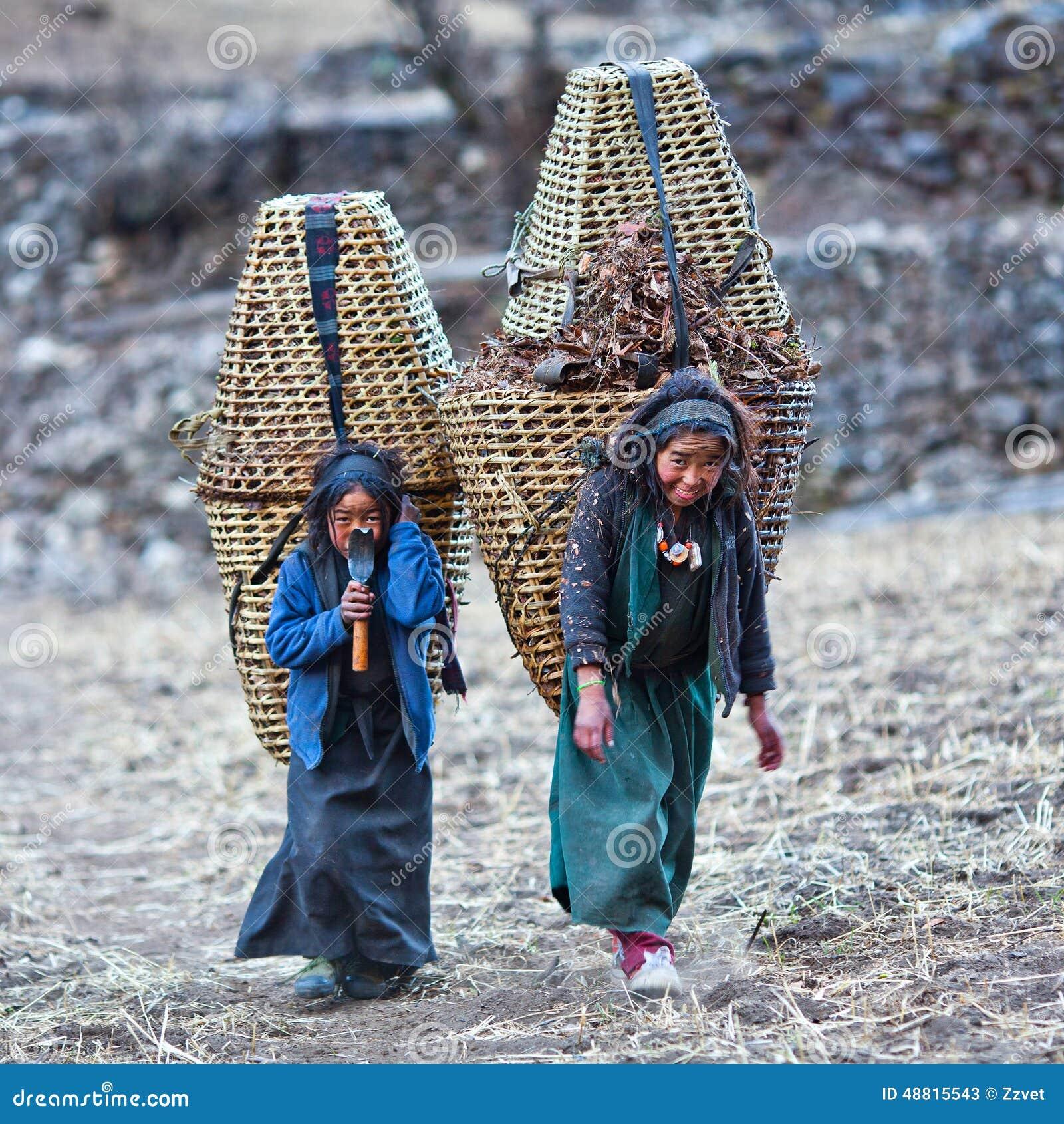 Tibetan People In Nepal Editorial Stock Photo Image Of