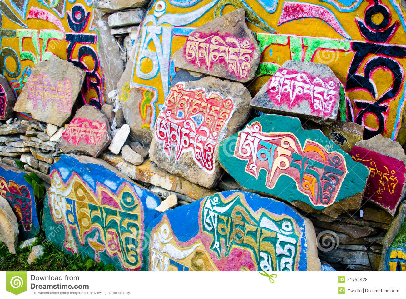 Tibetan prayer stones religious buddhist symbols stock photo tibetan prayer stones religious buddhist symbols buycottarizona