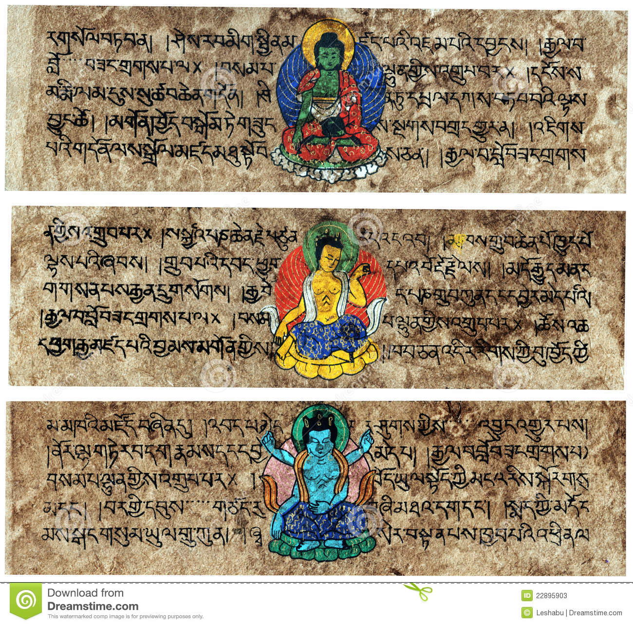 Tibetan Sanskrit Prayer Tablets Stock Image Image Of Grunge