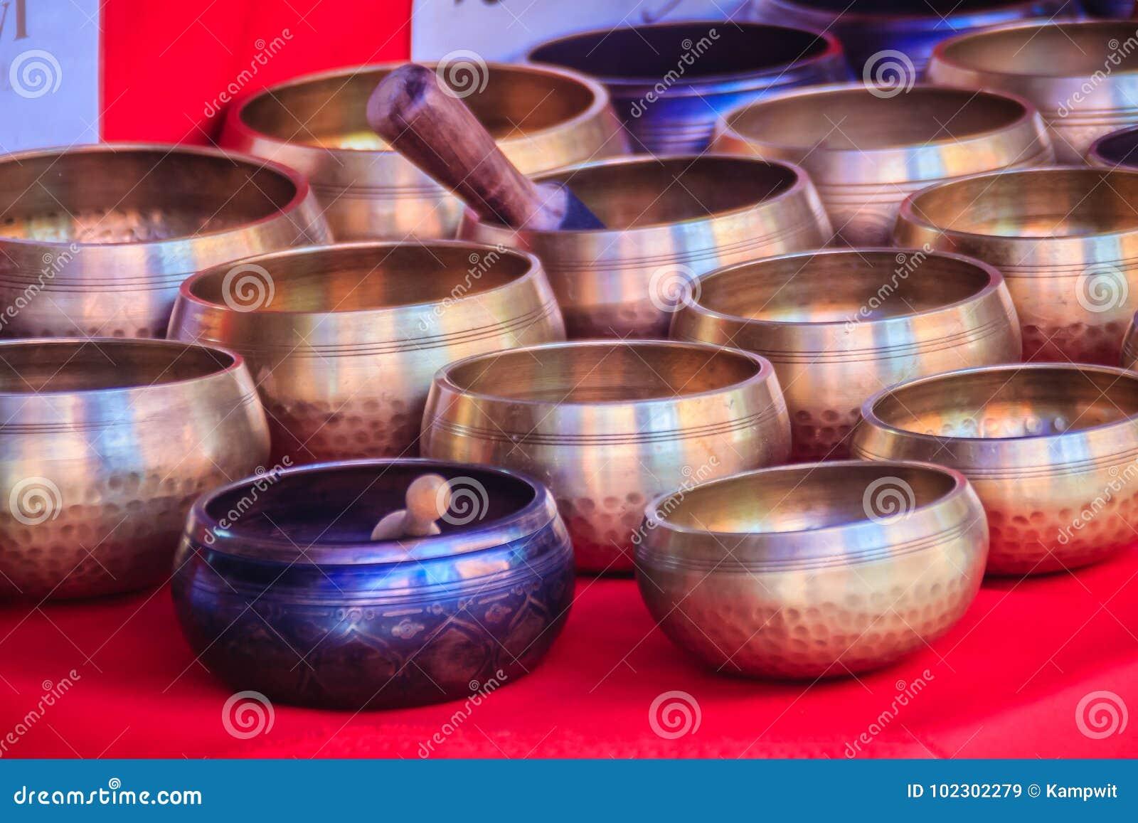 Tibetan Singing Bowls For Sale At The Antique Market ...