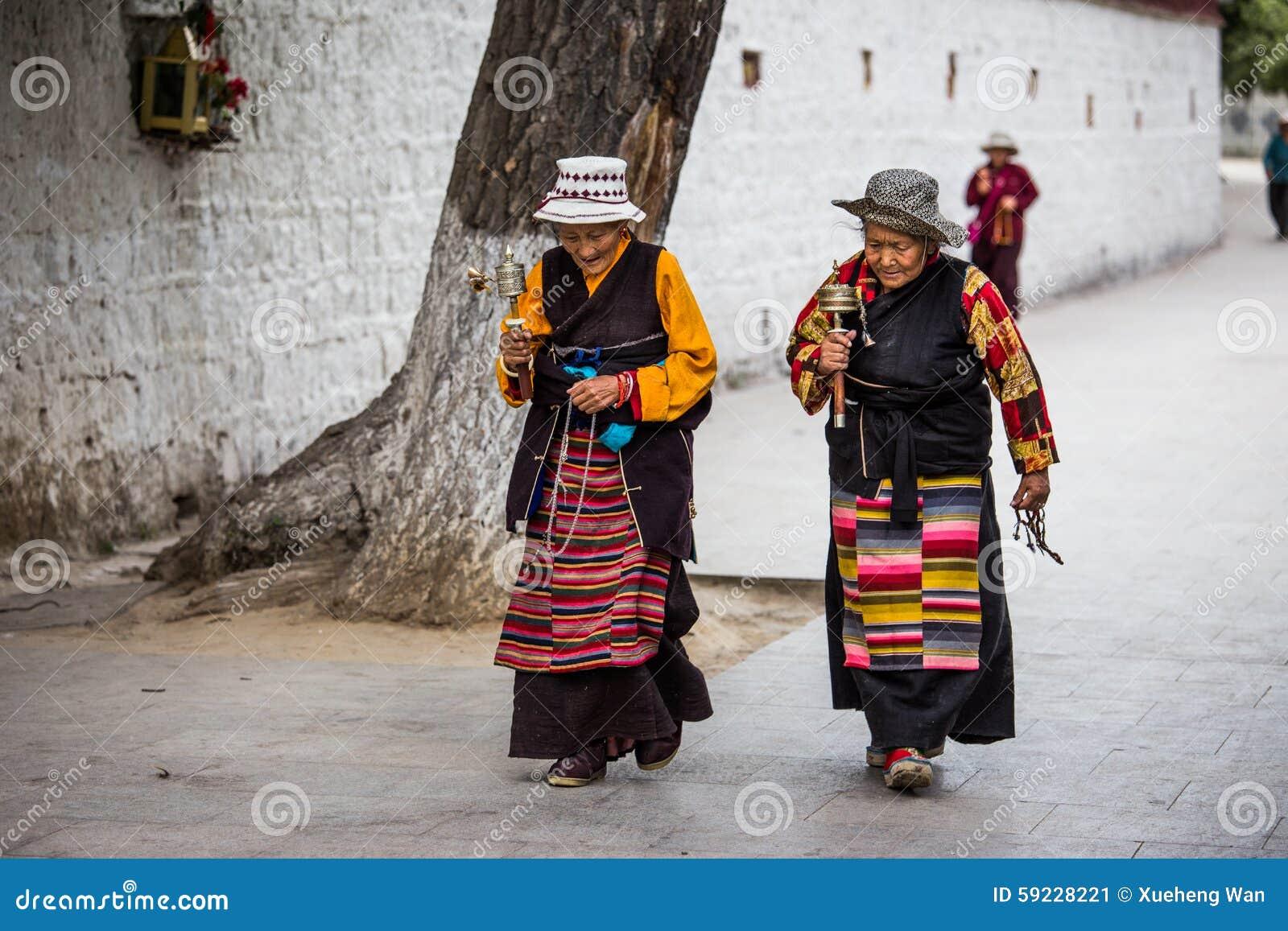 Tibetano Streetsnap en el palacio Potala