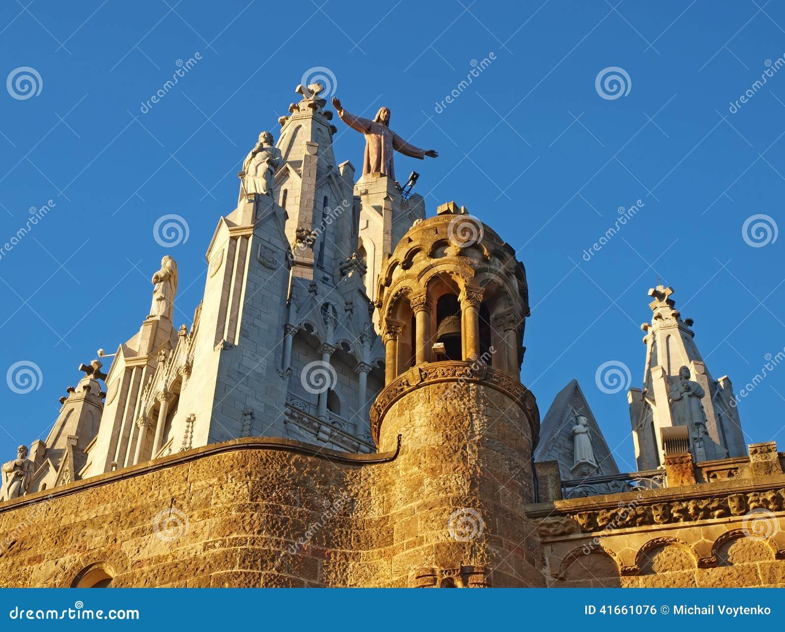 Tibidabo Испании церков barcelona