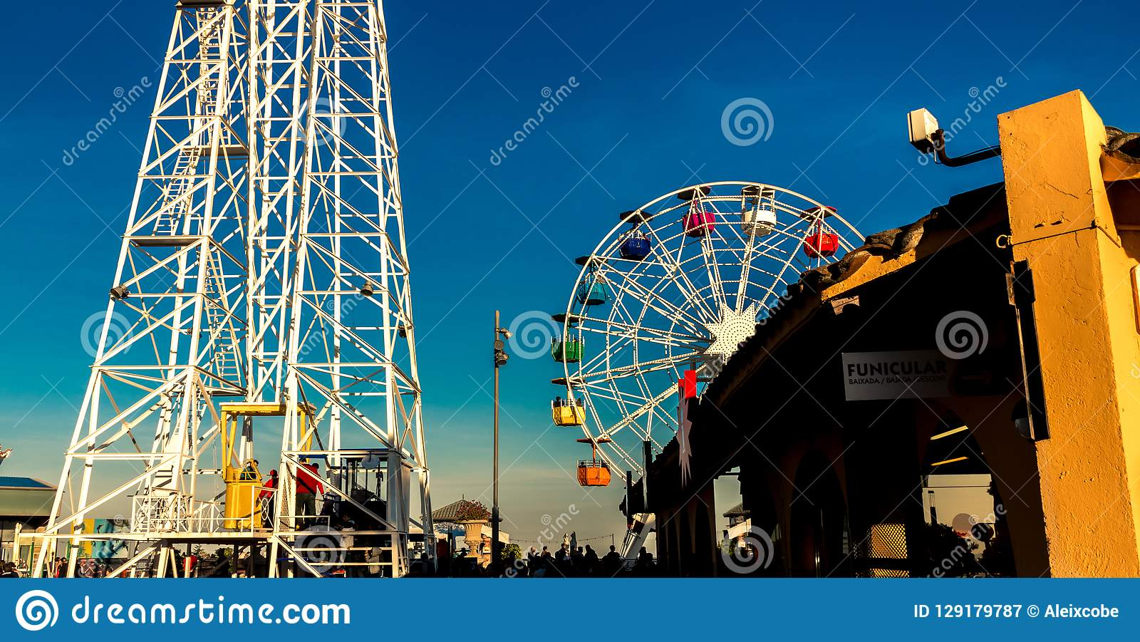 Tibidabo Ferris Wheel in Barcelona
