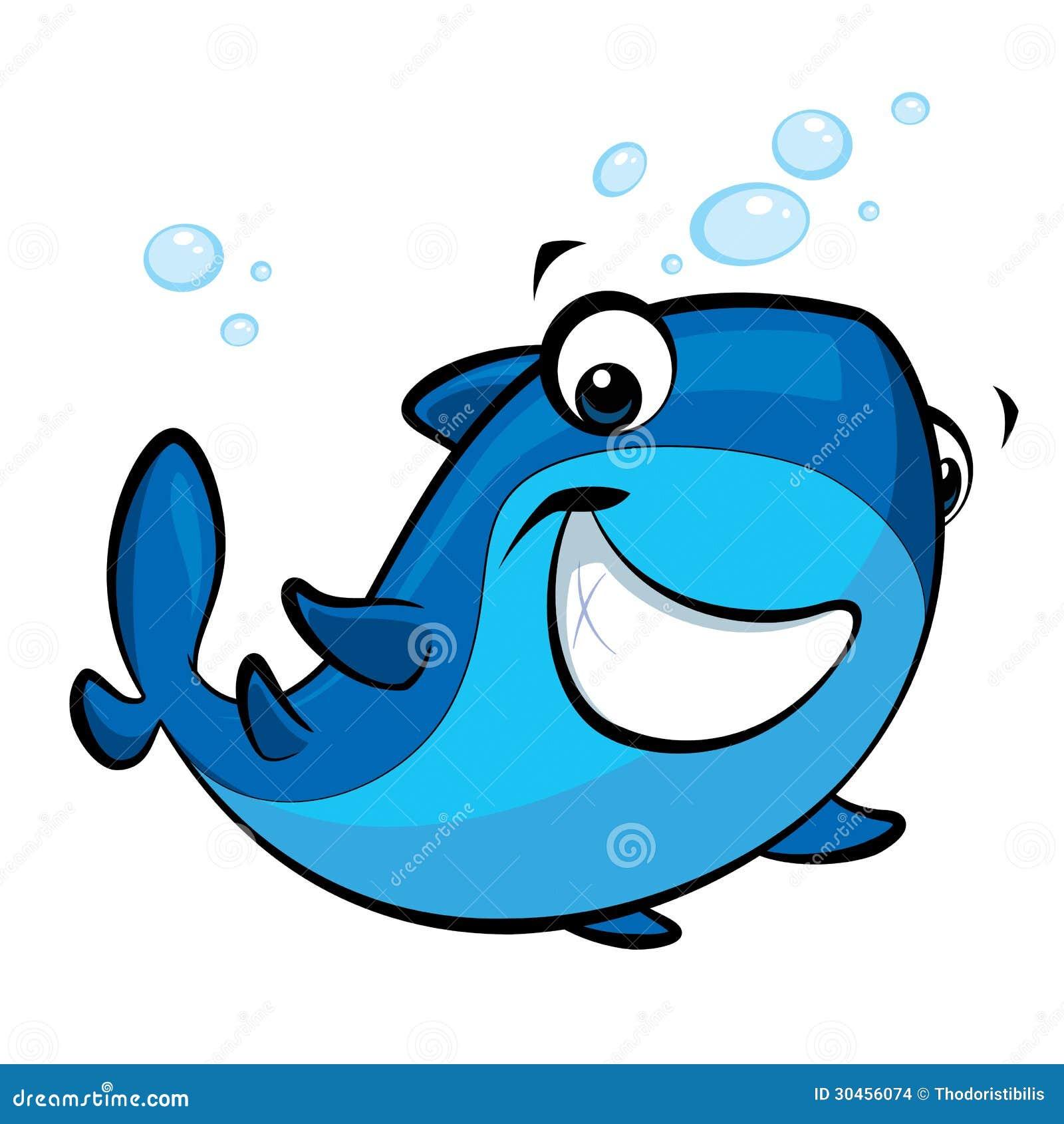 Tiburón sonriente del bebé de la historieta