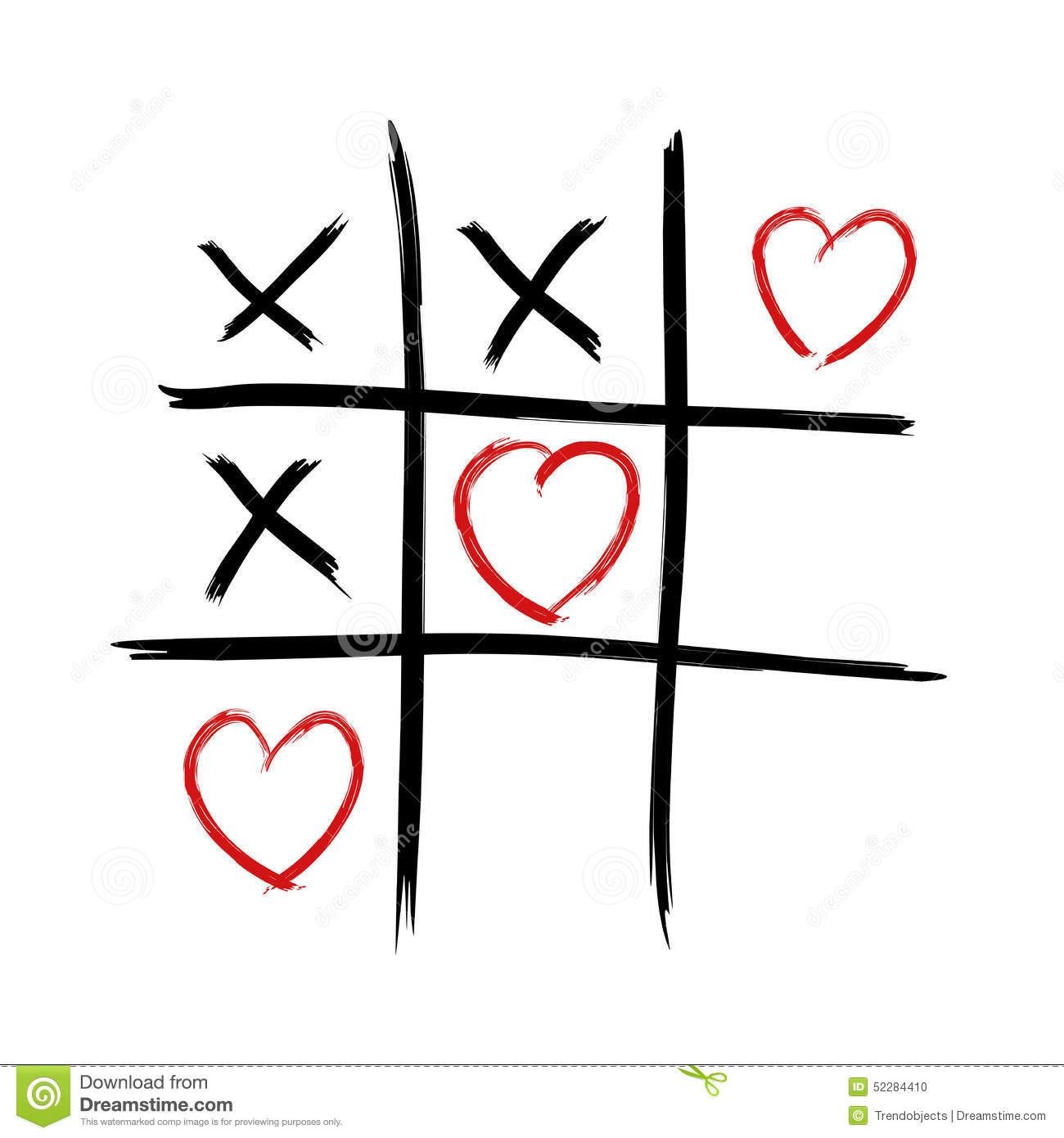 Tic Tac Toe - Love Wins Stock Illustration - Image: 52284410