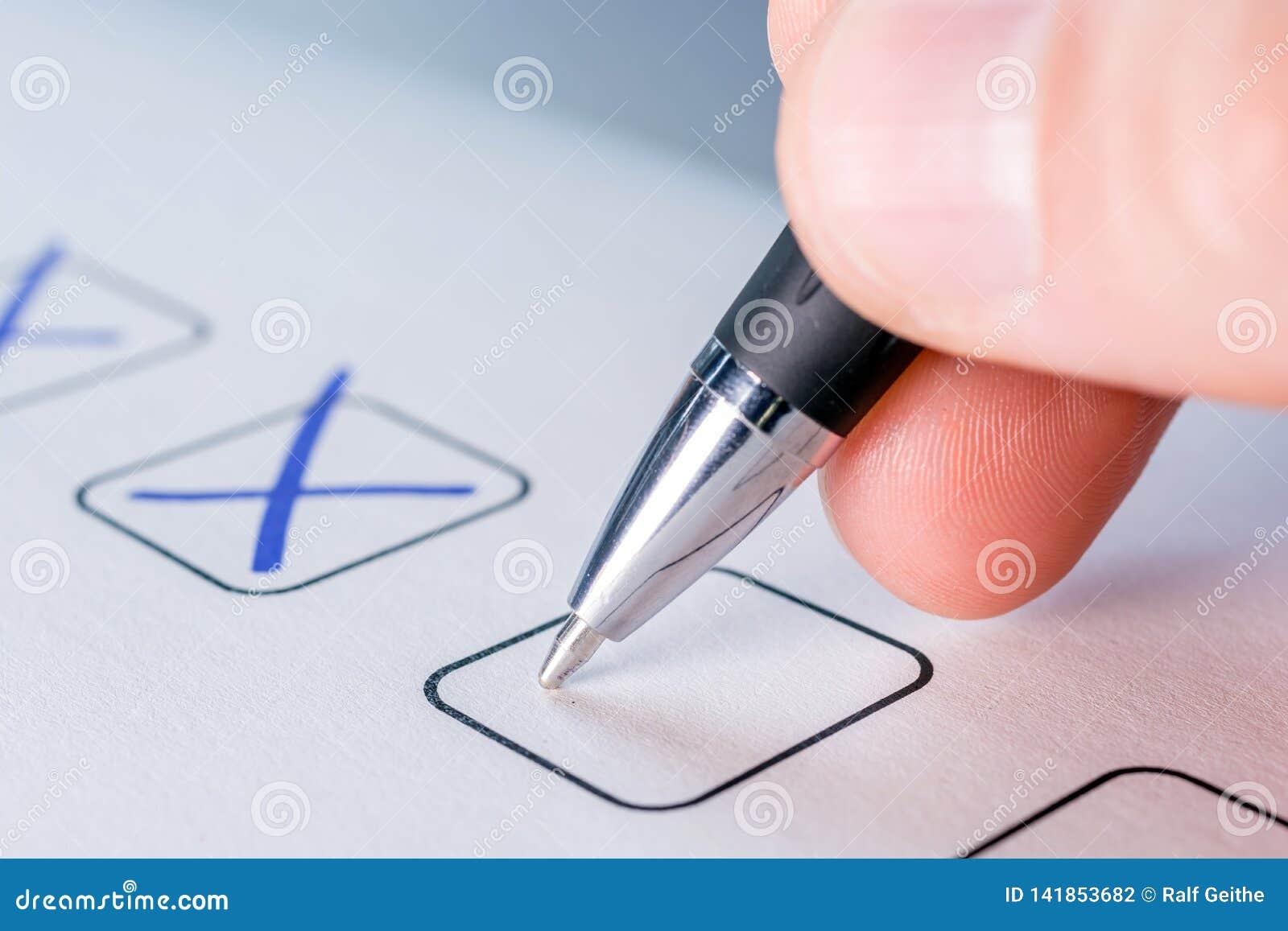 Ticchettando un campo su un documento
