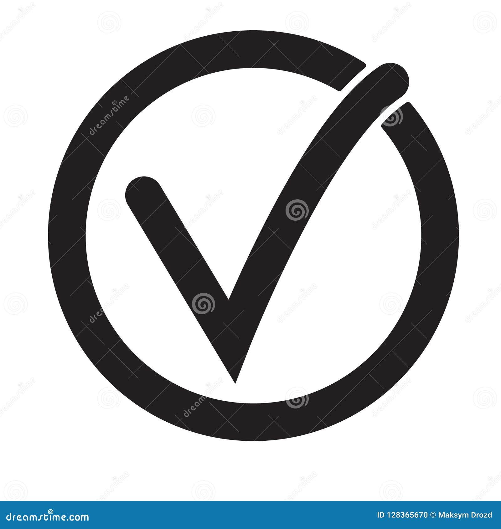 Tick Icon Vector Symbol, Checkmark Isolated On White