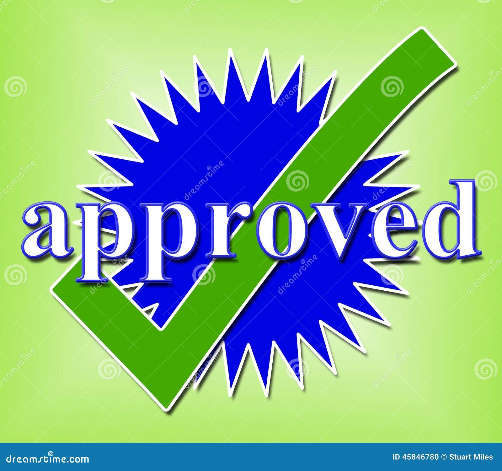 tick indicates approval checkmark and aprovado confirmou ilustração