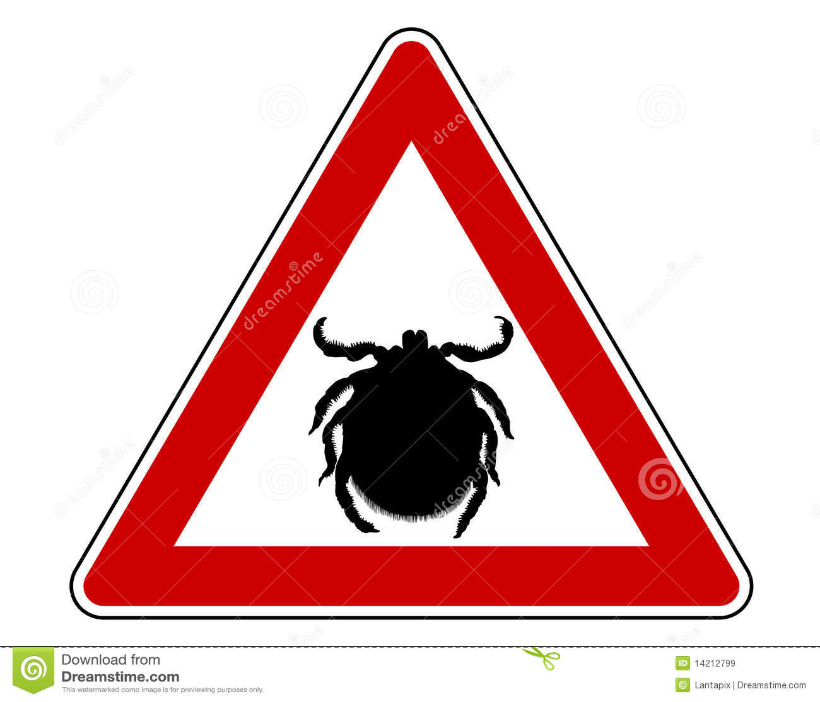 tick warning sign stock vector  illustration of warning