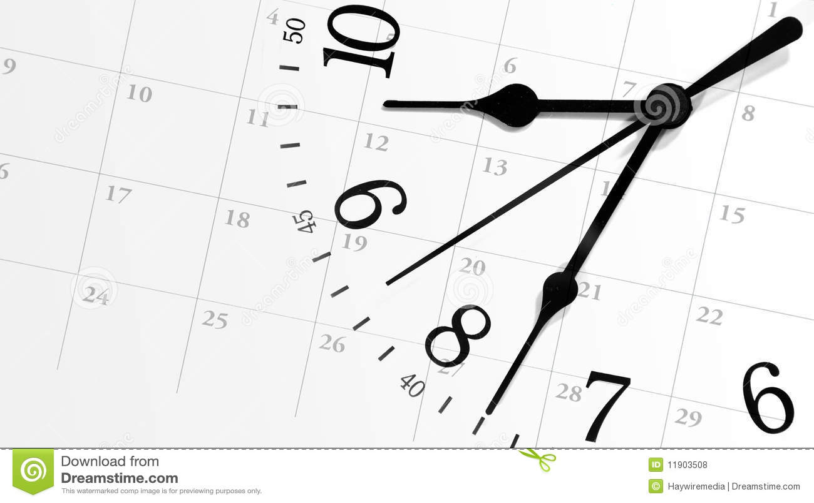 Tickende Zeit-Borduhr mit Kalender