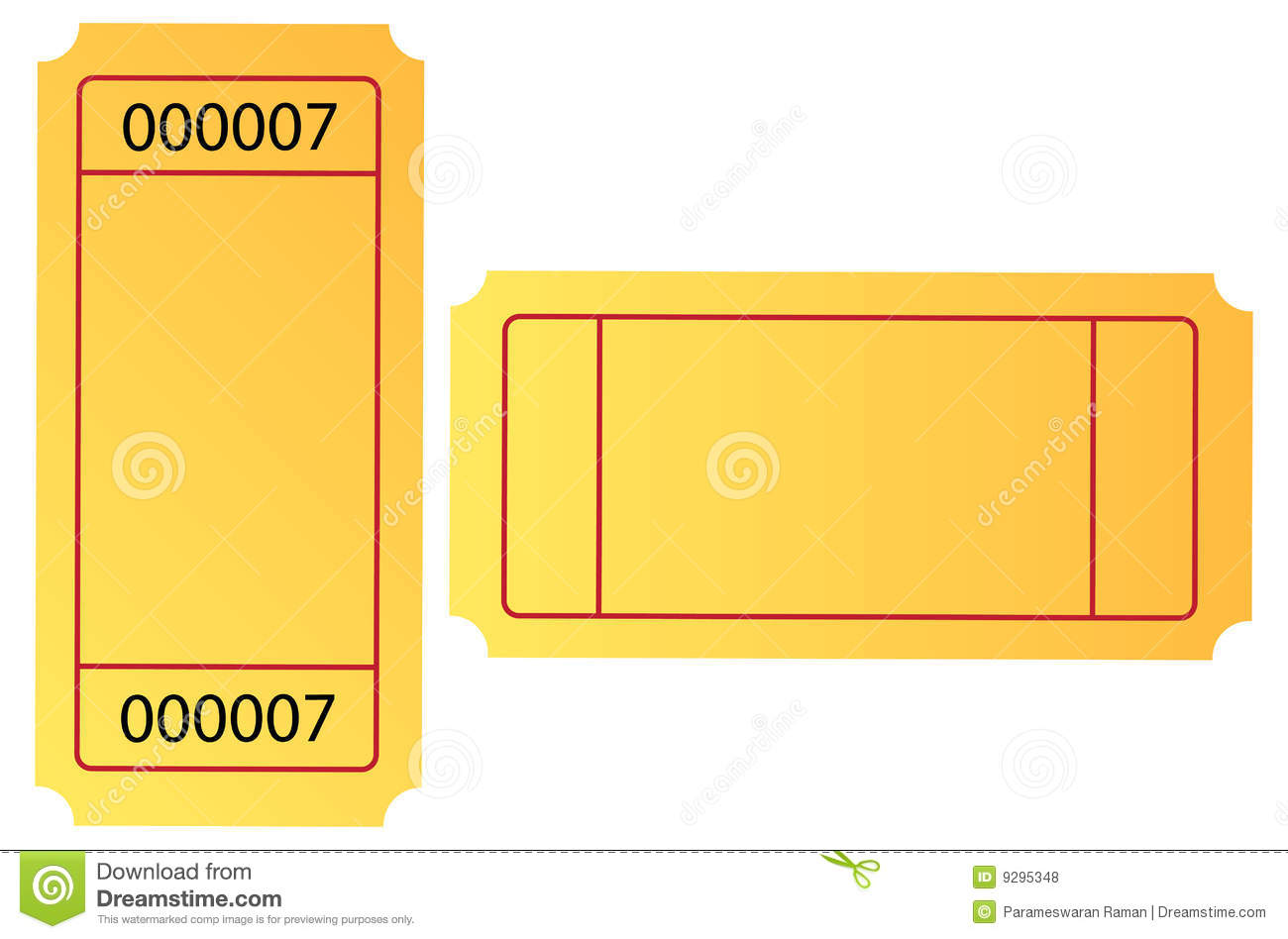 Ticket Royalty Free Stock Photos - Image: 9295348
