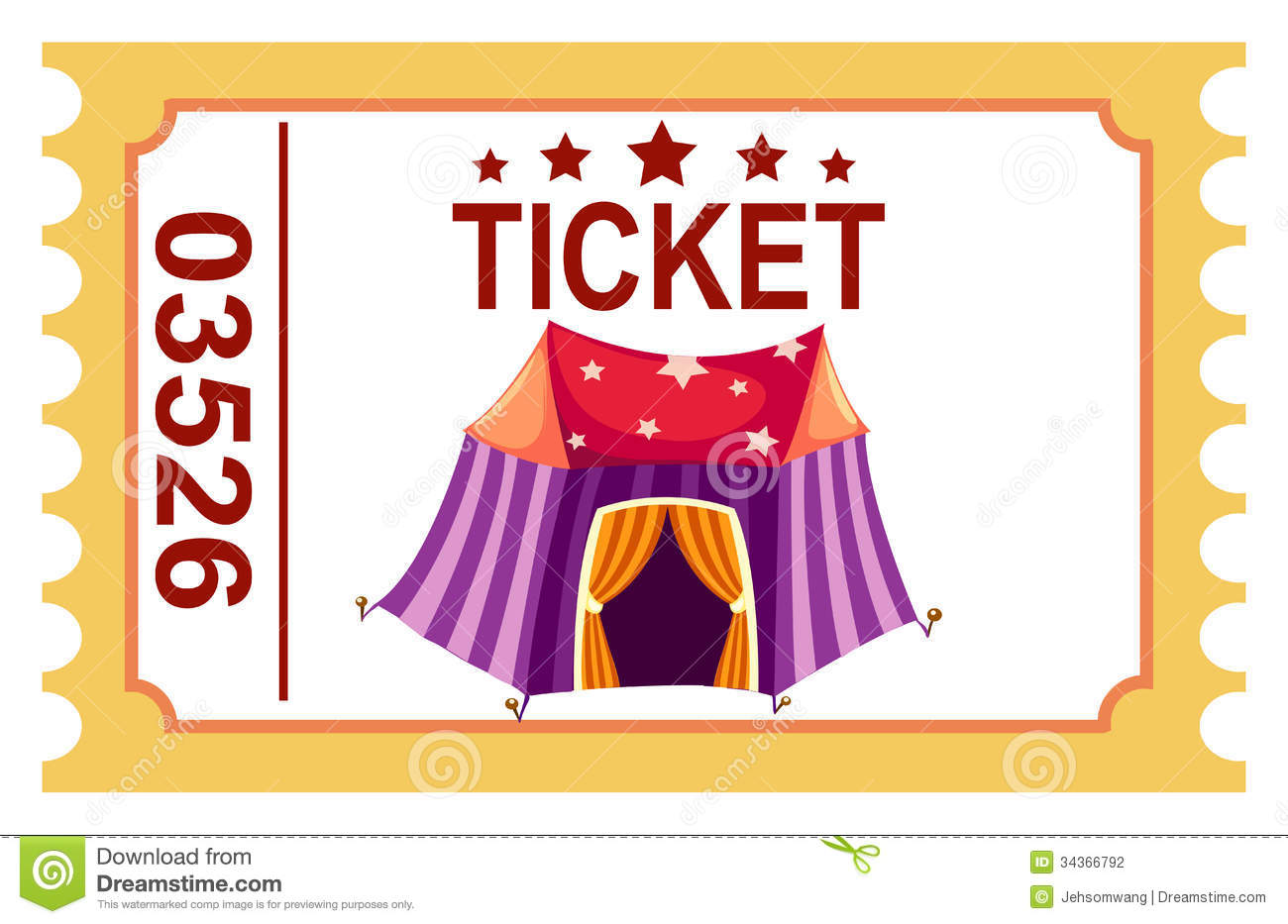 Ticket Circus Tent Stock Photography - Image: 34366792