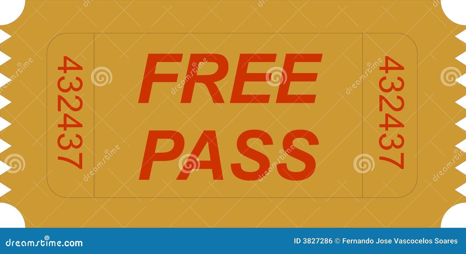 Ticket free pass royalty free stock image image 3827286