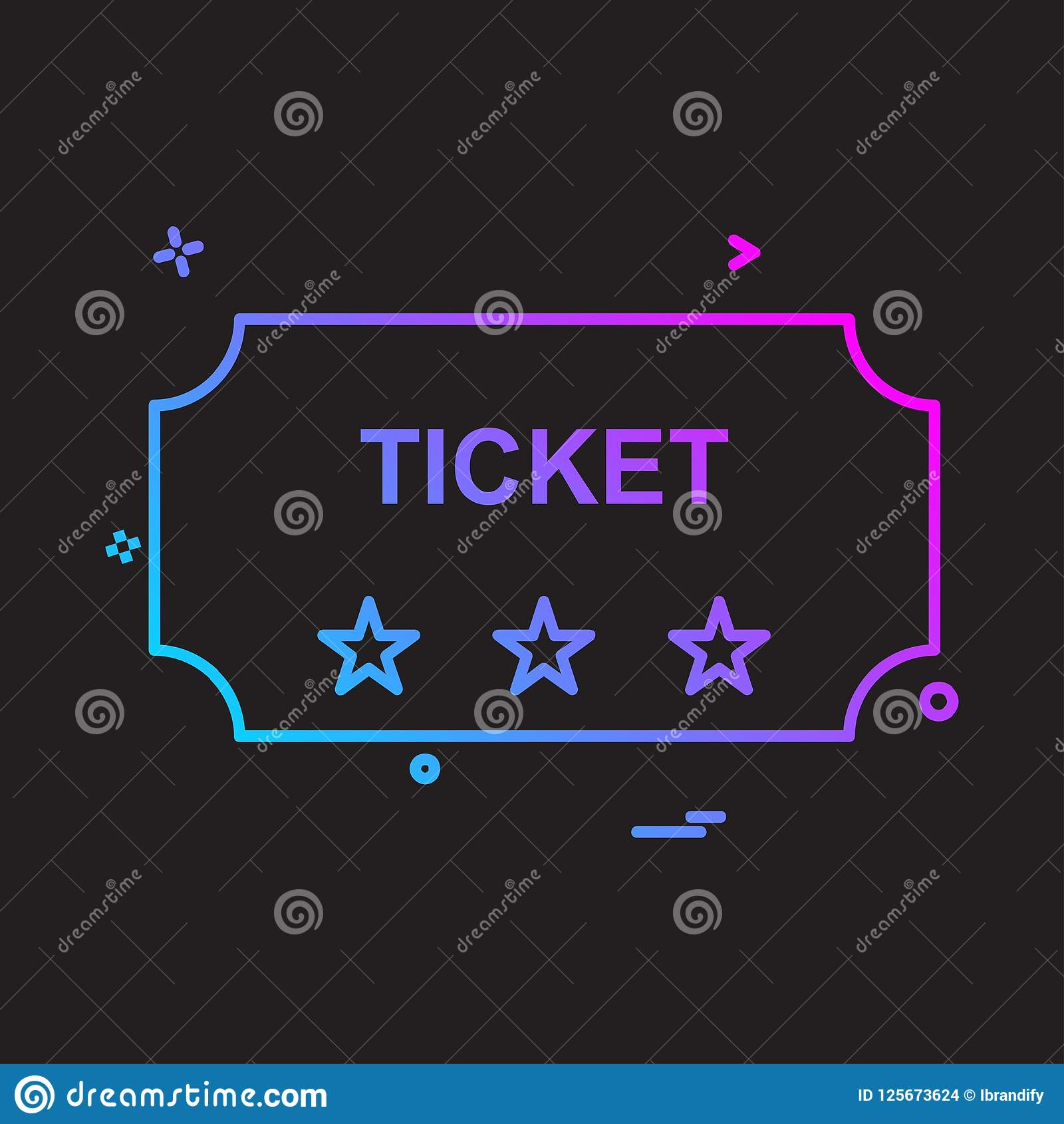 Ticket icon design vector. This Vector EPS 10 illustration is best for print media, web design, application design user interface and infographics with well Royalty Free Illustration