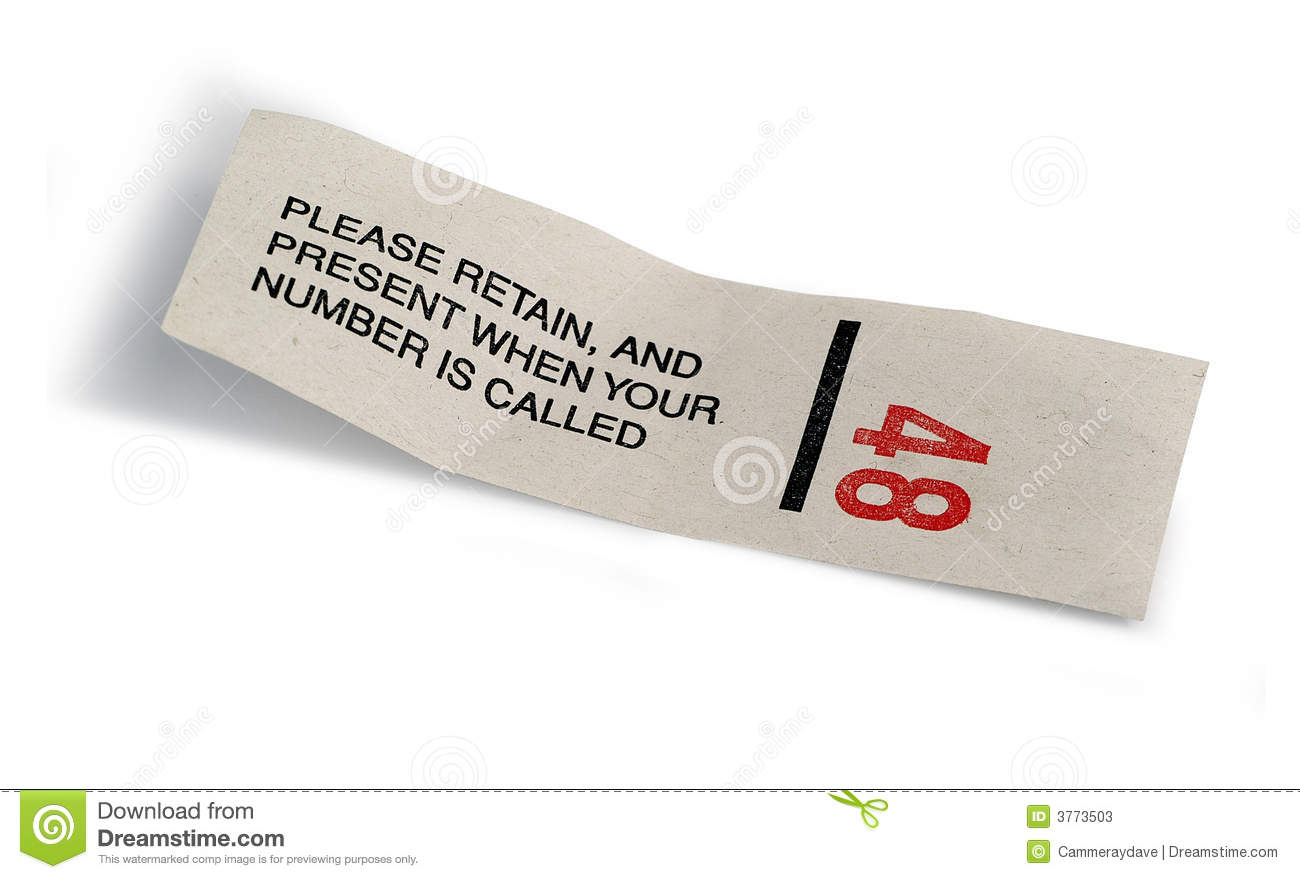 Ticket Number 48 Stock Photos - Image: 3773503
