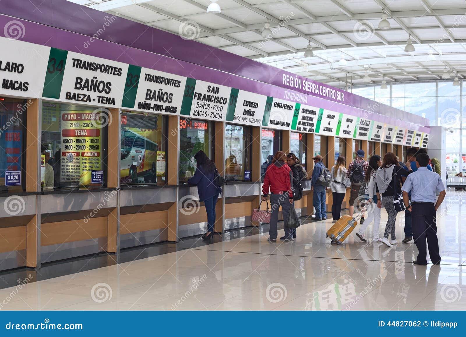Ticket offices in quitumbe bus terminal in quito ecuador for Office design quito