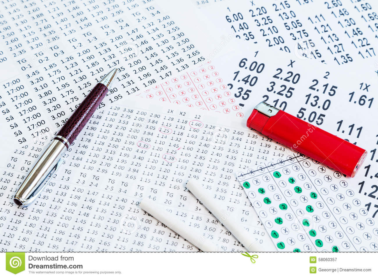 Ticket Option For Bet Stock Image. Image Of Bookmaker