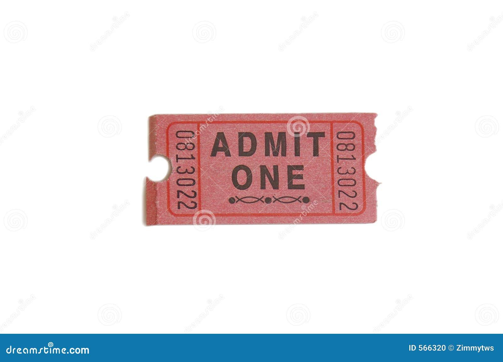 ticket stub stock photo
