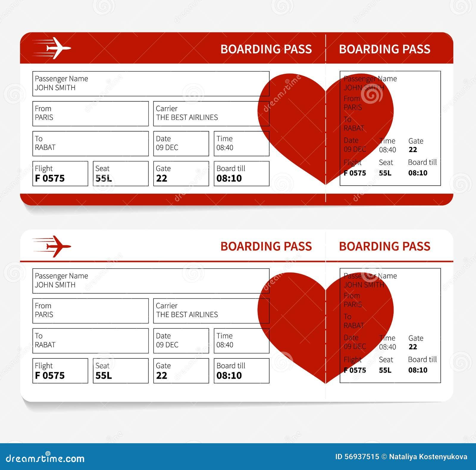 Ticket stock vector. Illustration of passenger, paris - 56937515