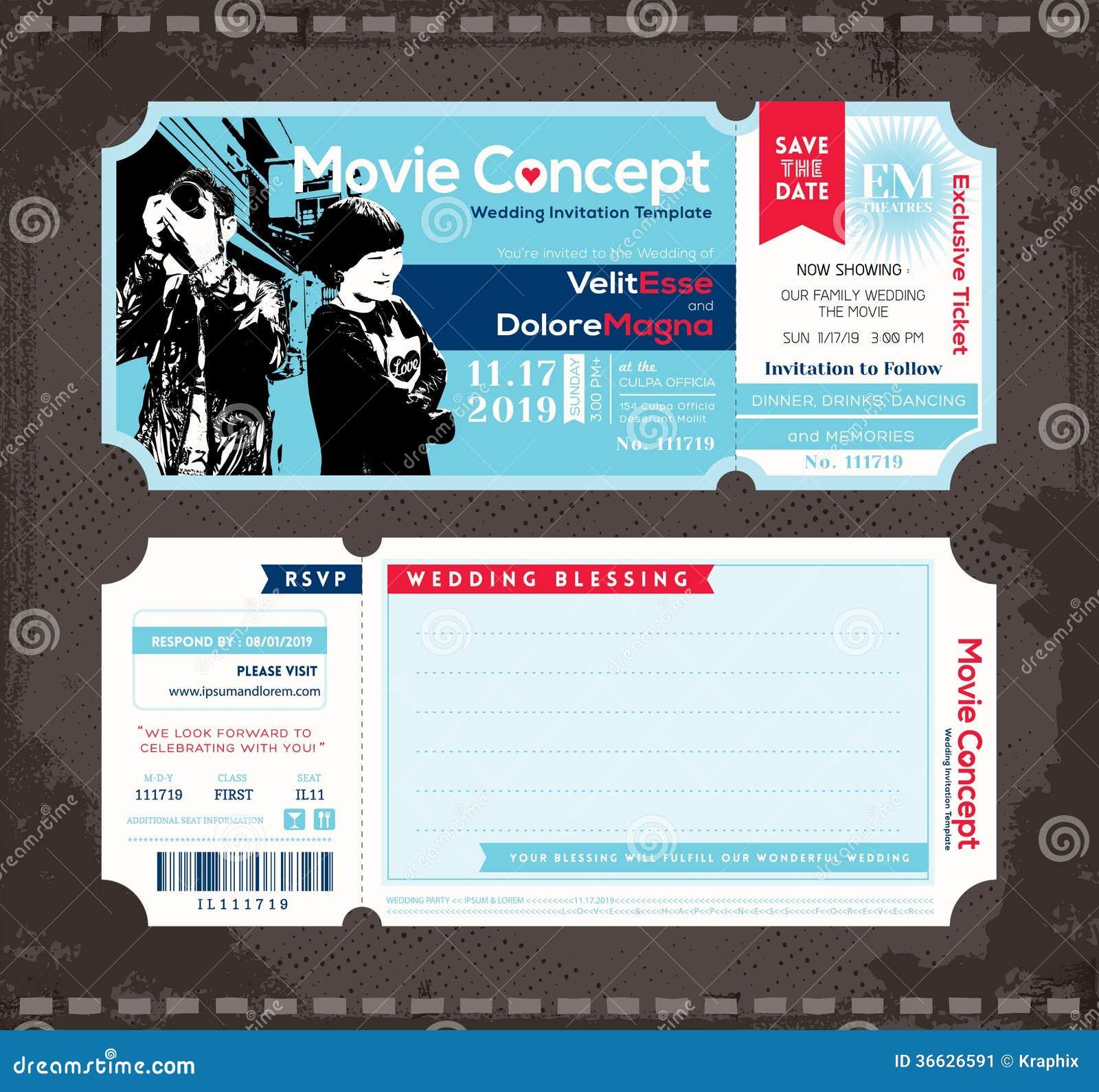 template ticket design