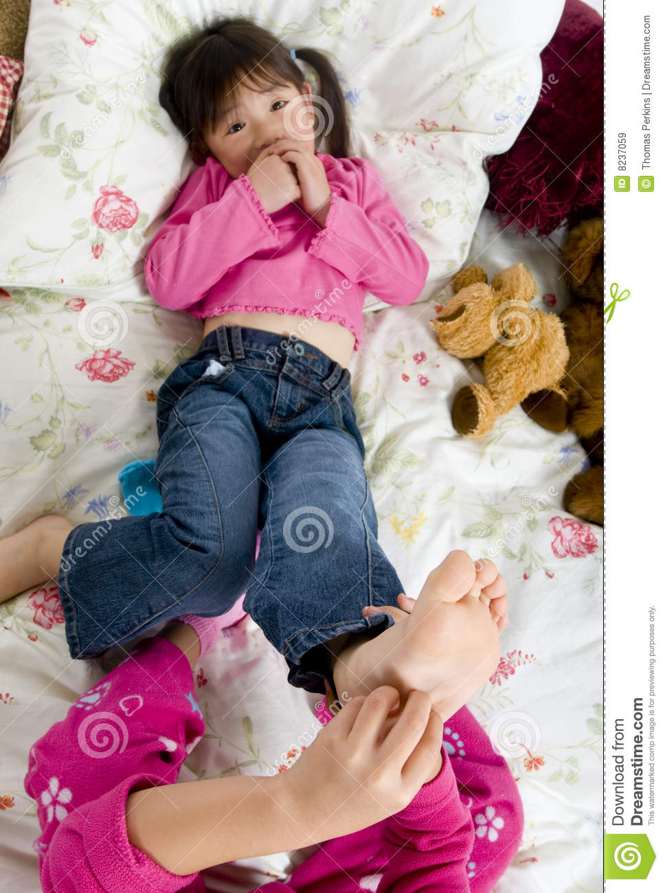 Tickling Feet Royalty Free Stock Images