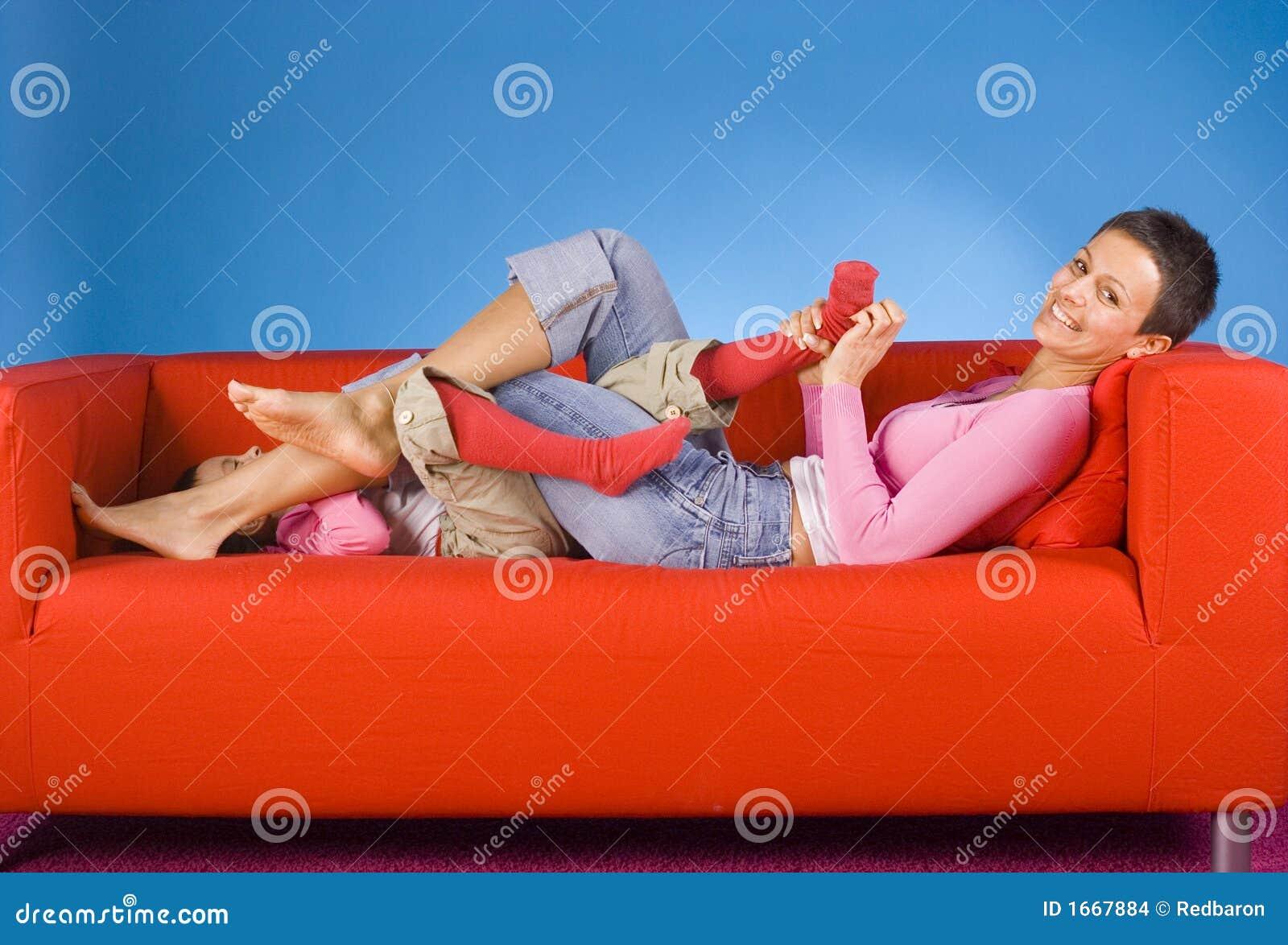 Lesbian Feet Lick Tickle
