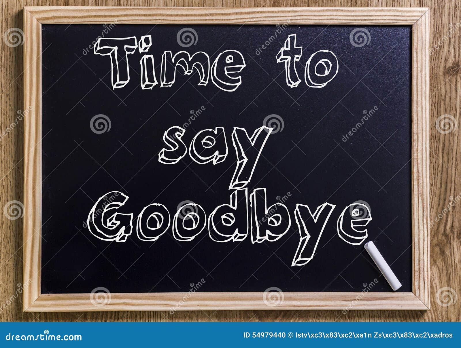 Tid som säger farväl