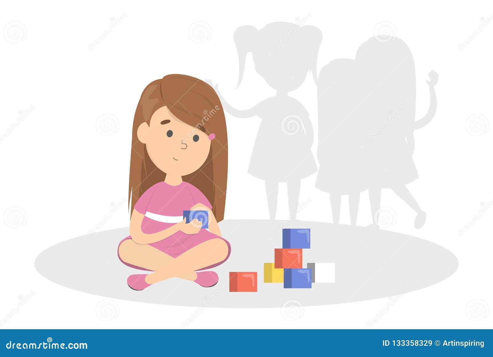 Tidigt tecken av autism Barnlek bara
