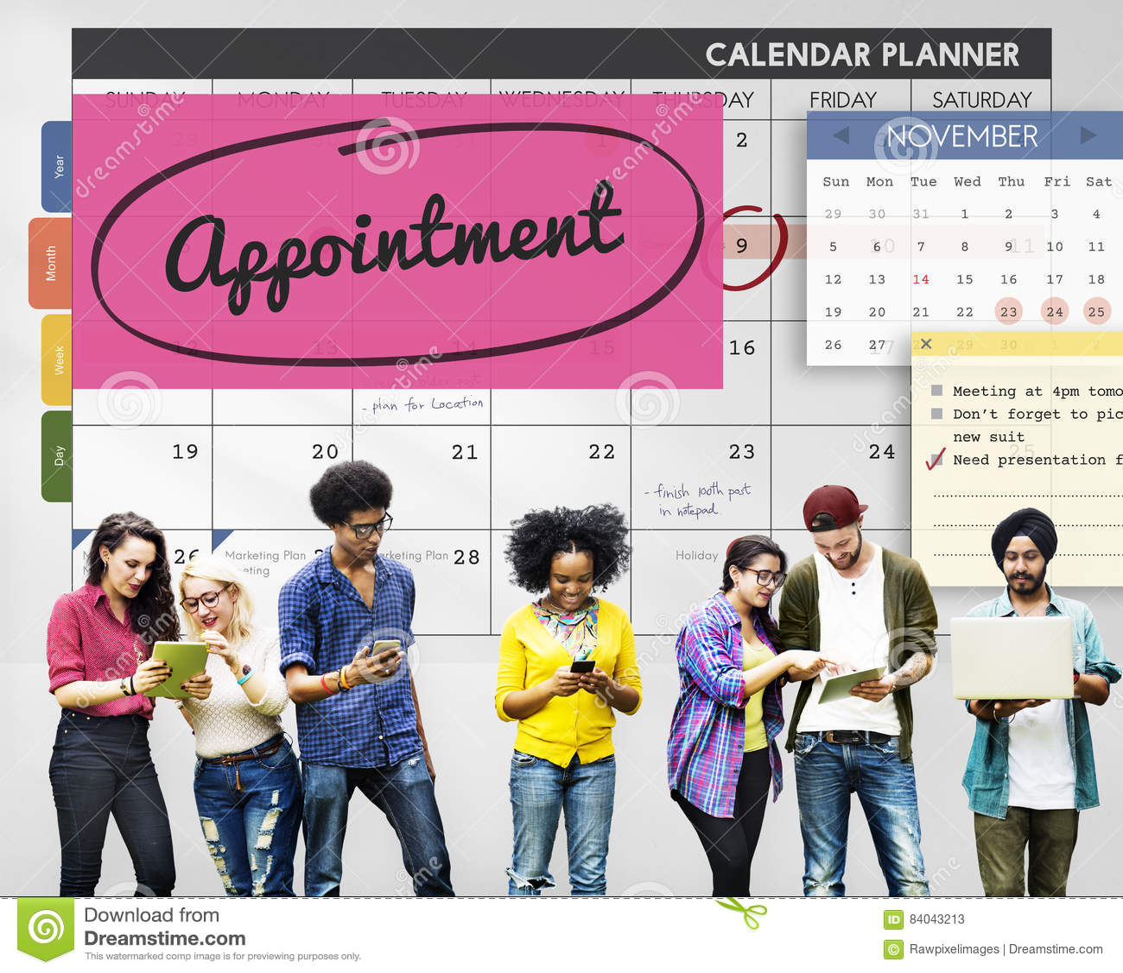 Tidsbeställningsstadsplanerareschema som planerar för att göra listabegrepp