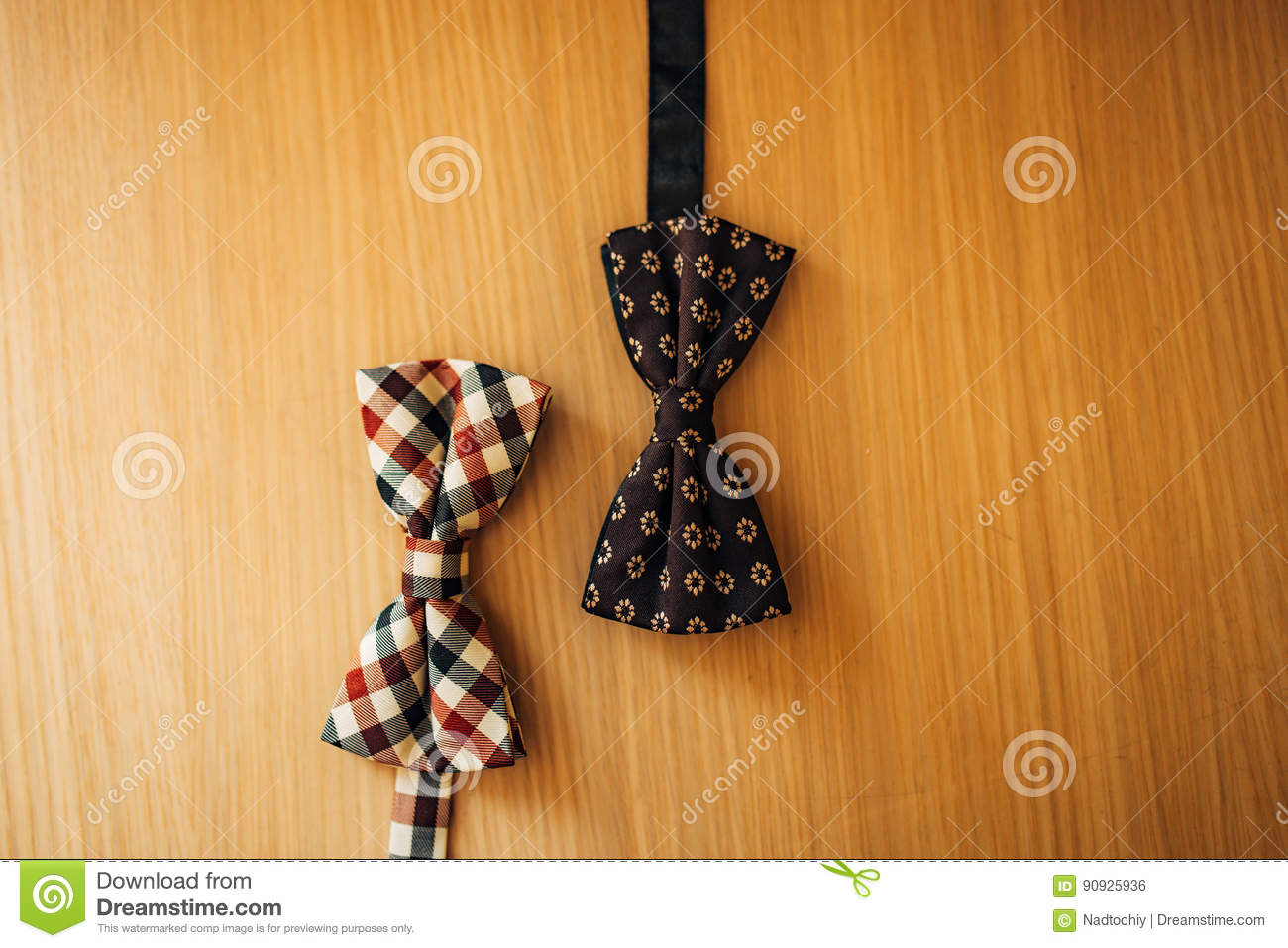 Tie Butterfly on a wooden background