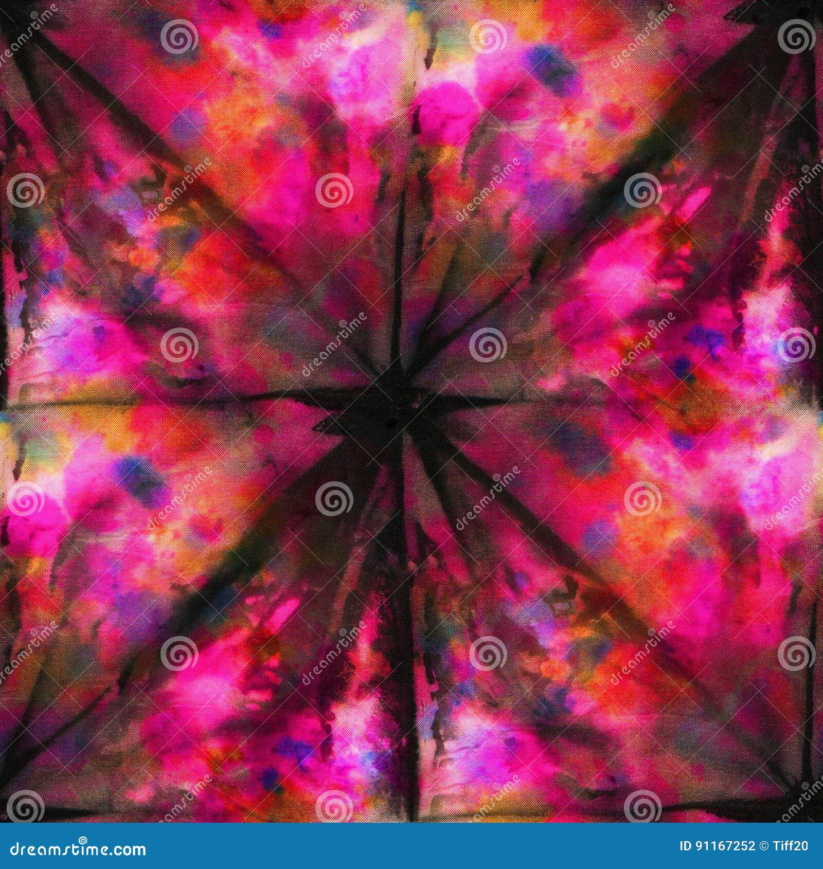 e317d441f4f1 Seamless tie-dye pattern of black and red color on white silk. Hand painting  fabrics - nodular batik. Shibori dyeing.
