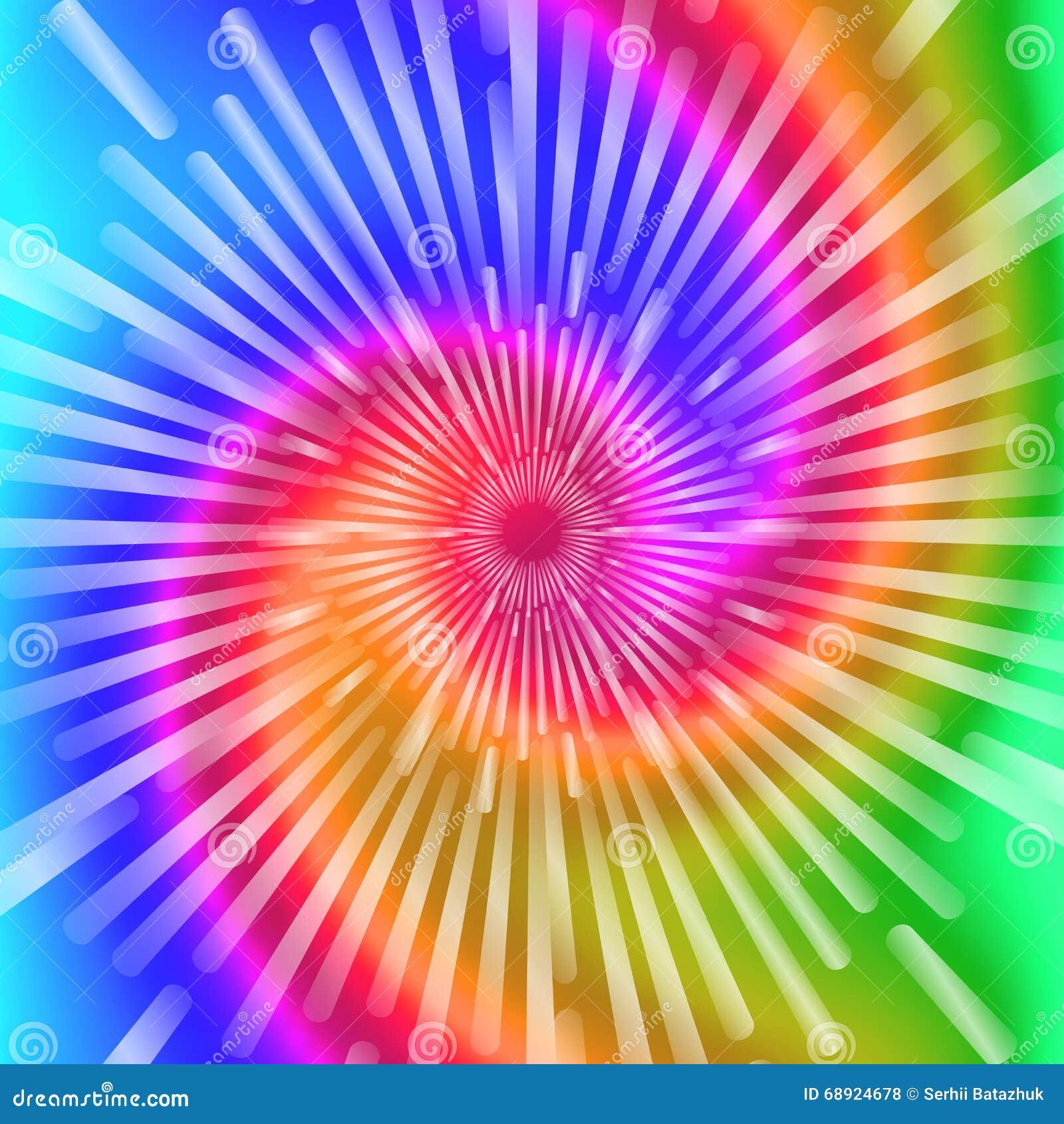 Tie Dye Colors Beautiful Realistic Spiral Tie Dye Vector